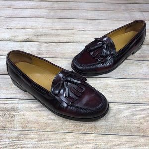 Cole Haan Pinch Shawl Slip On Burgundy Loafers 12D